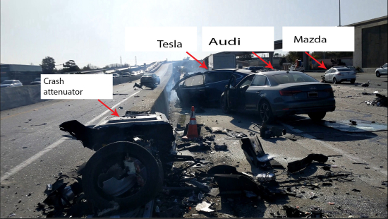 - 6 12TeslaCrash Fig3 3 - Forensic Analysis of Tesla Crash Based on Preliminary NTSB June 2018 Report